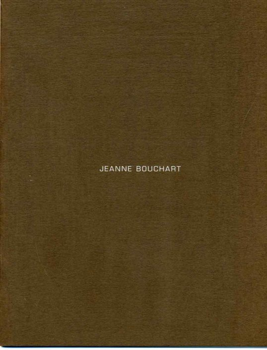 Catalogue Jeanne Bouchart - Galerie Felli