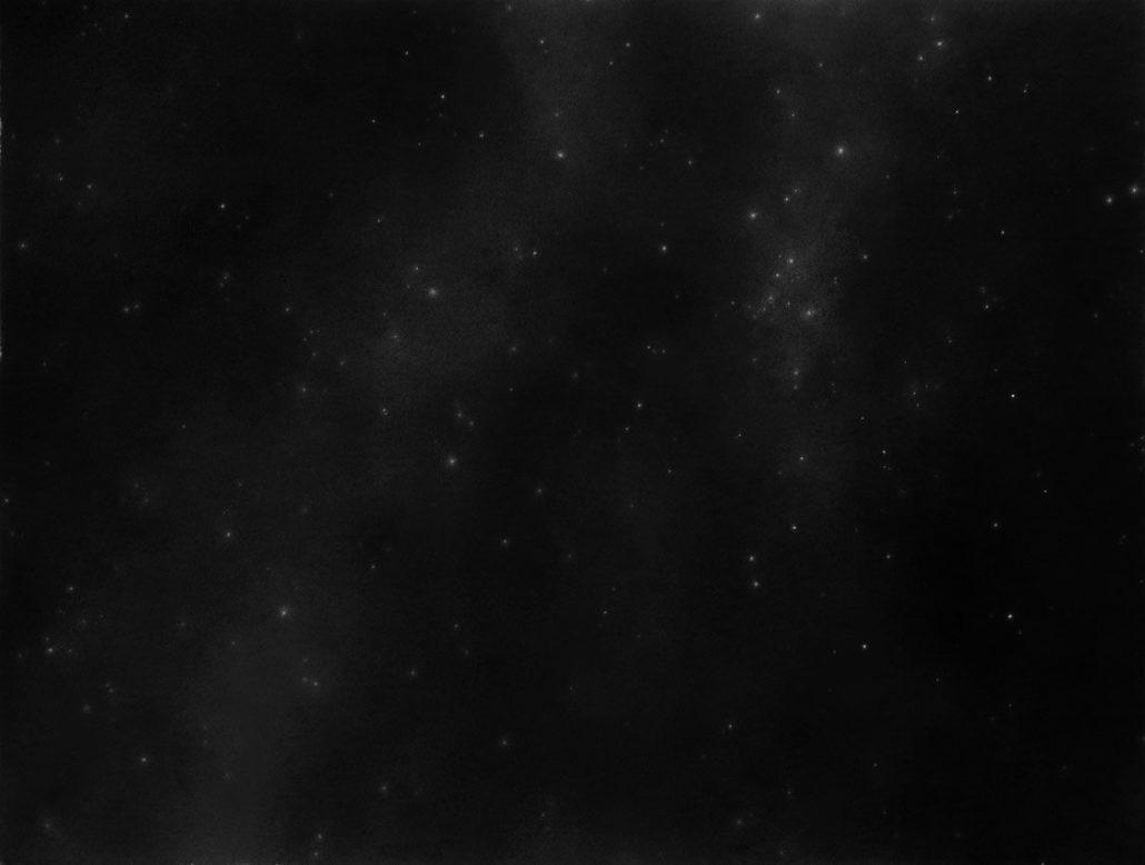Ph.Ségéral - Nuit étoilée - Mine de Plomb sur papier - 97 x 130 cm - 2015