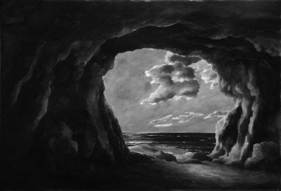 Ph.Ségéral - Grotte - Encre - 26 x 52 cm - 2011