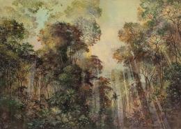 Eric Roux-Fontaine - Contre jour - 100 x 140 cm - Acrylique, pigments et poudre de marbre sur toile - 2019