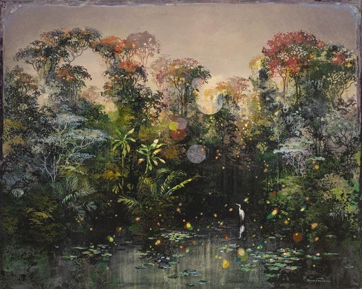 Eric Roux-Fontaine - En navigant avec le soleil - 80 x 100 cm