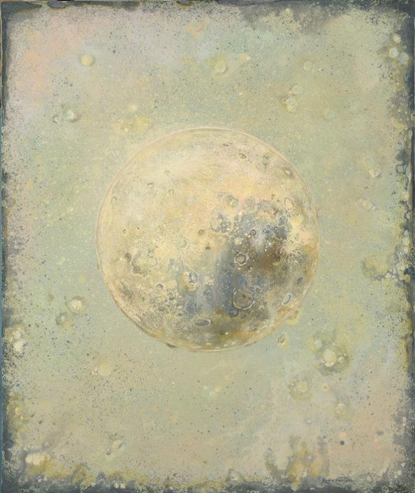 Naissance d un jour - 87 x 60 cm - 2018 - Acrylique pigments poudre de marbre sur toile