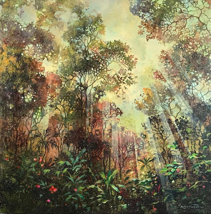 Eric Roux-Fontaine - Jardin secret - 50 x 50 cm