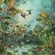 Mélusine - 120 x 140 cm - acrylique, pigments et poudre de marbre sur toile