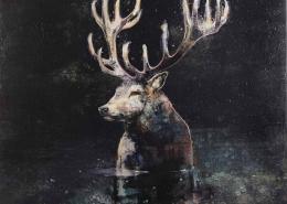 ROUX-FONTAINE - La nuit dépose ses étoiles - 80 x 80 cm