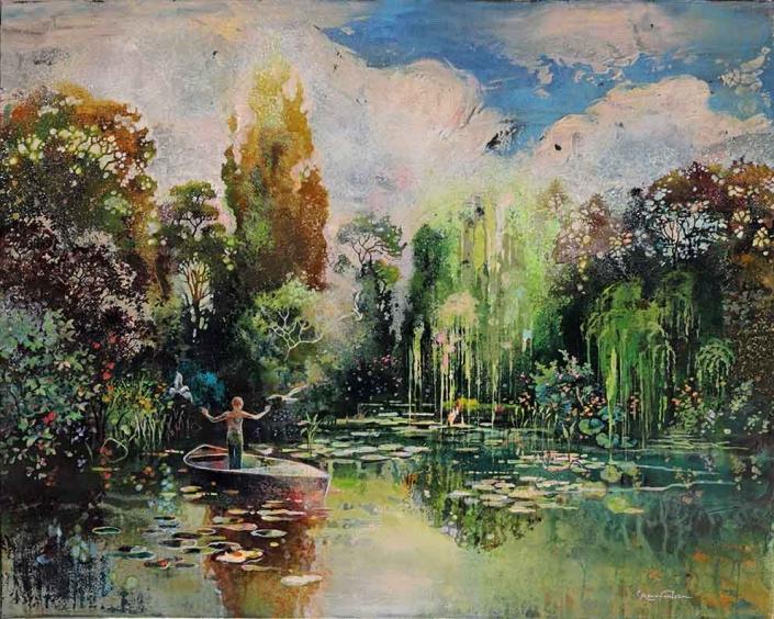 ROUX-FONTAINE - L'enfant du marais - 81 x 100 cm