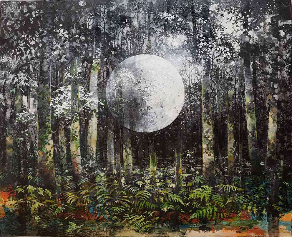 ROUX-FONTAINE - Nocturne pour piano - 81 x 100 cm