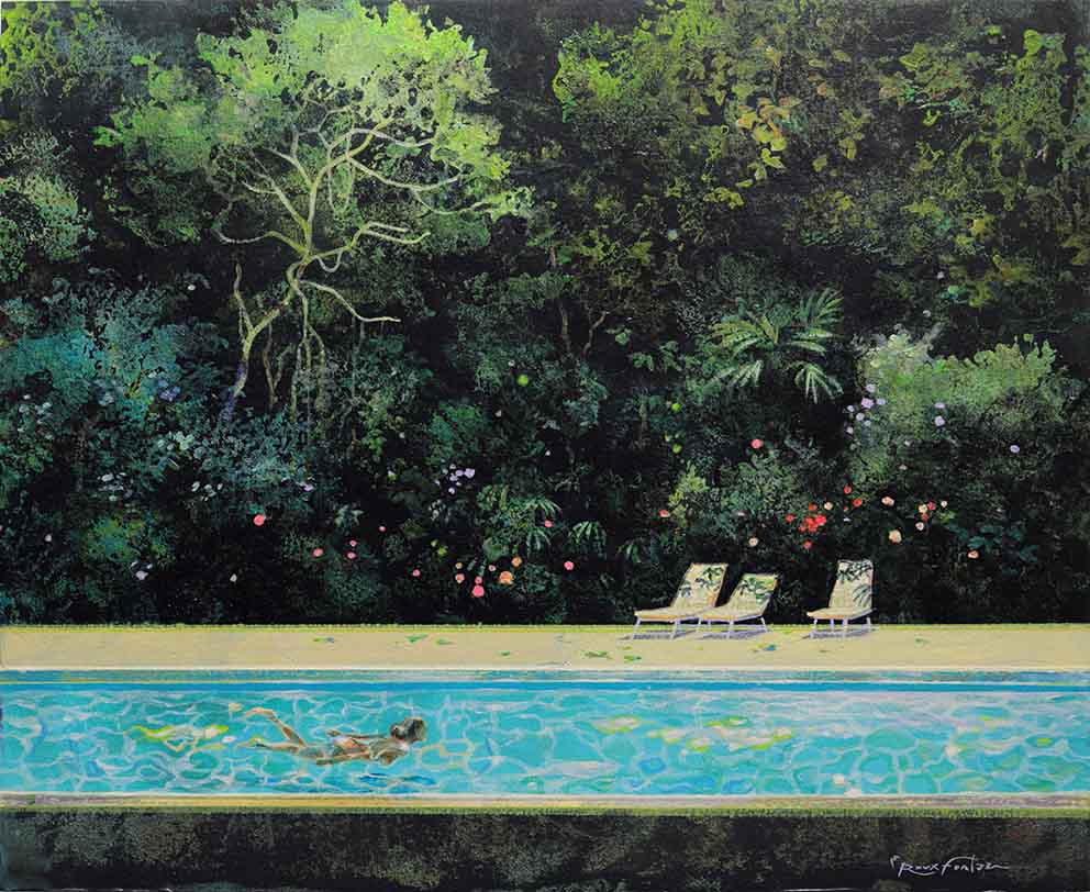 ROUX-FONTAINE - Silence - 38 x 46 cm