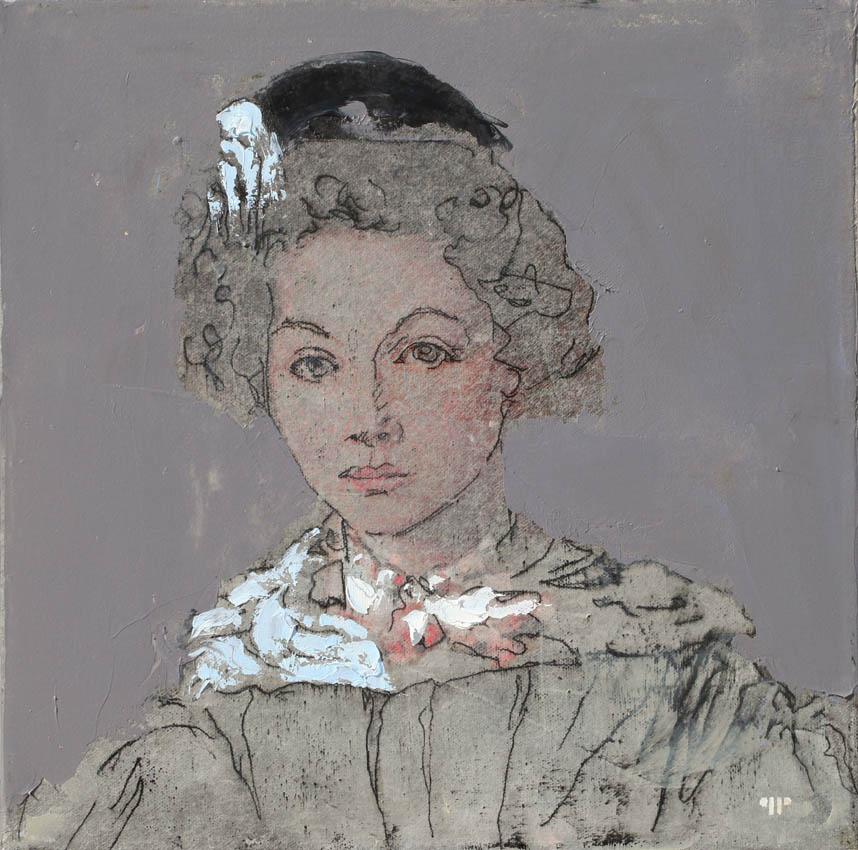 Pietropoli - Laure Sennegon - huile sur toile - 33 x 33 cm - 2017