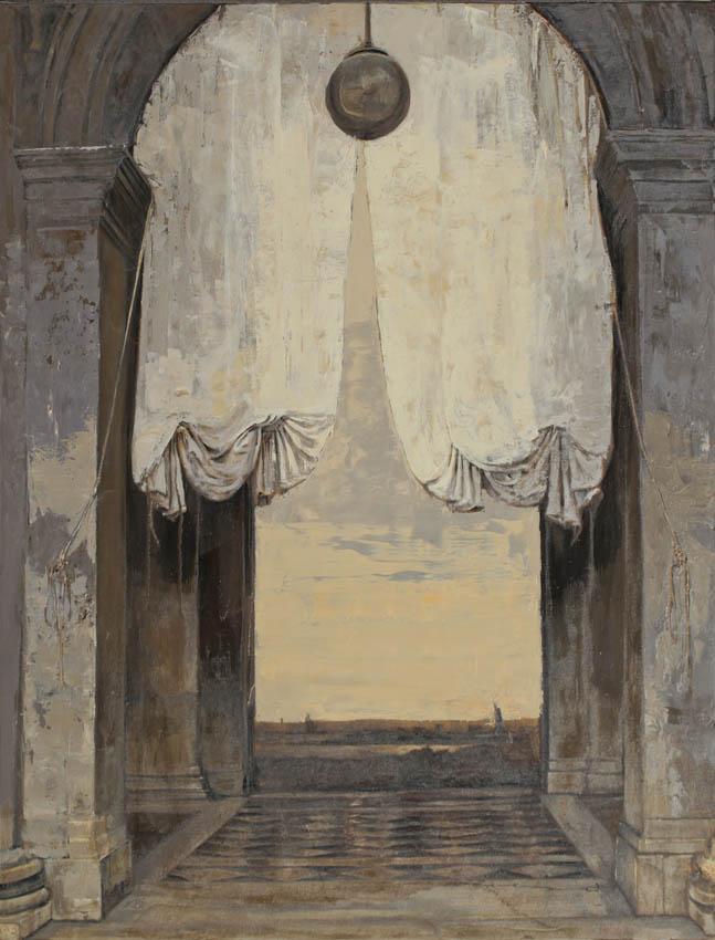 Pietropoli - San Marco - Huile et feuille d'or sur toile - 89 x 116 cm - 2017