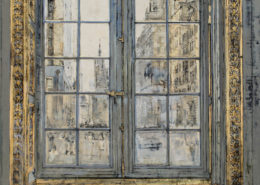 The Fifth Ave - 97 x 130 cm - Huile et feuille d'or sur toile