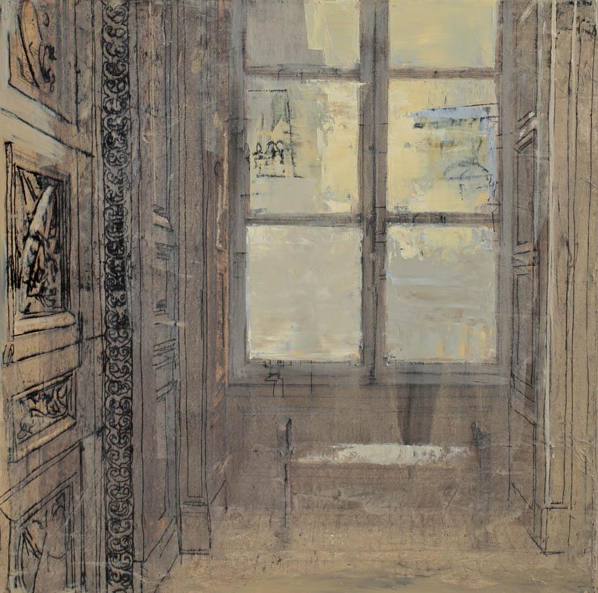 Le Carrousel - Huile sur toile -51 x 51 cm