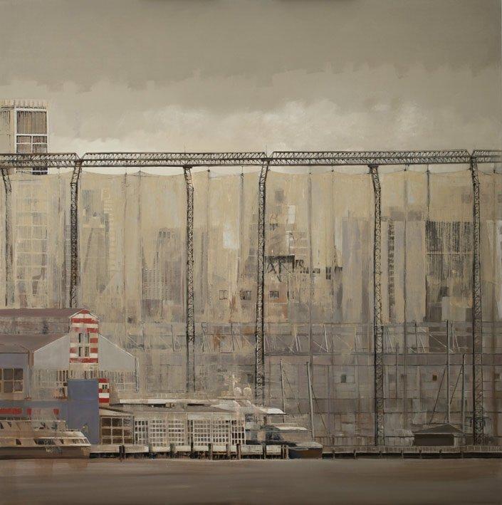 Chelsea piers - Huile sur toile - 150 x 150 cm - 2015