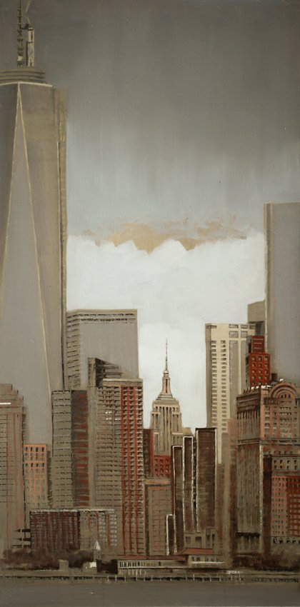 Freedom Tower - Huile sur toile - 101 x 51cm - 2015