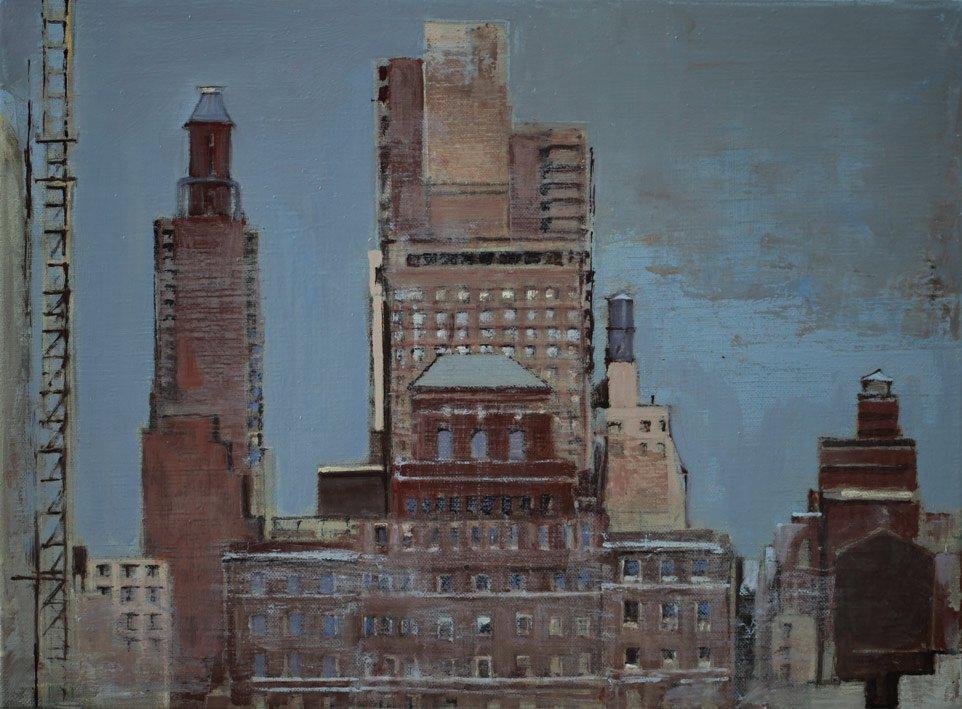 Manhattan II - 30 x 40 cm - Huile sur toile - 2015