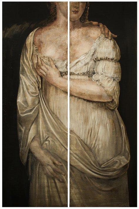 Persephone 150 x 50 cm (x2) Huile sur toile - 2015