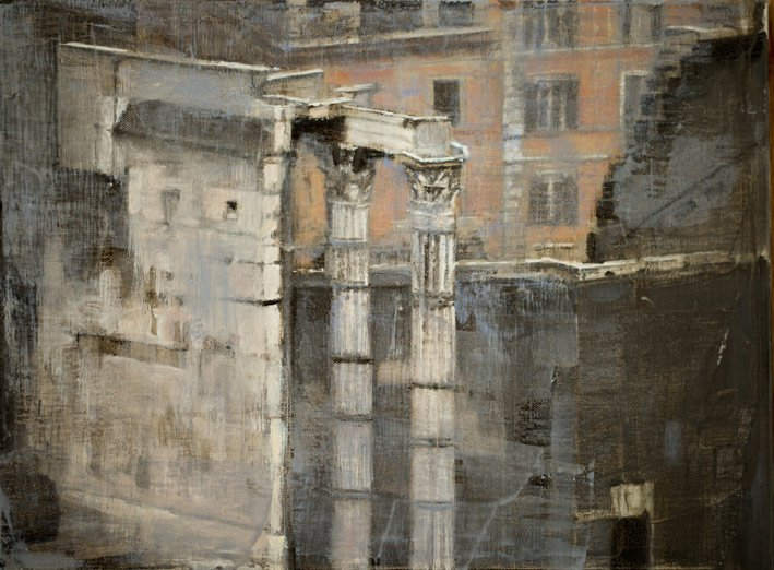 Rome III - 30 x 40 cm - Huile sur toile - 2015