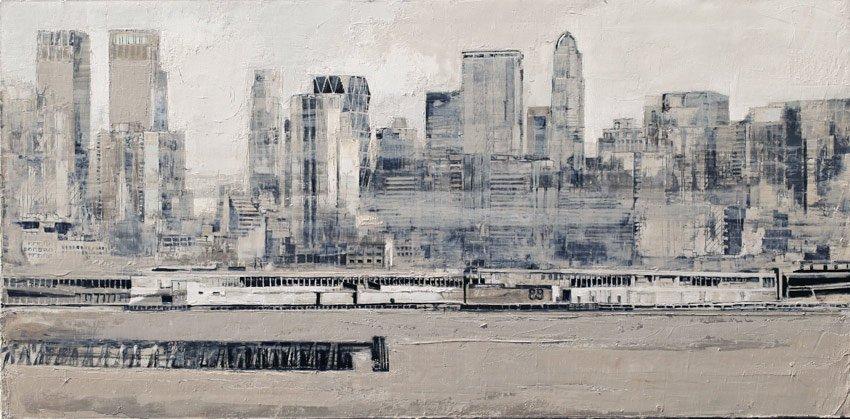 Uptown - Huile sur toile - 50 x 100-cm - 2014