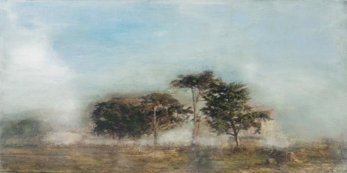 Marais côtier - 100 x 50 cm - Technique mixte - 2019