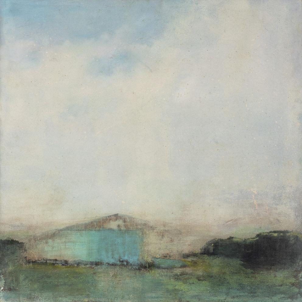 Refuge d'été - 60 x 60 cm - Technique mixte - 2019