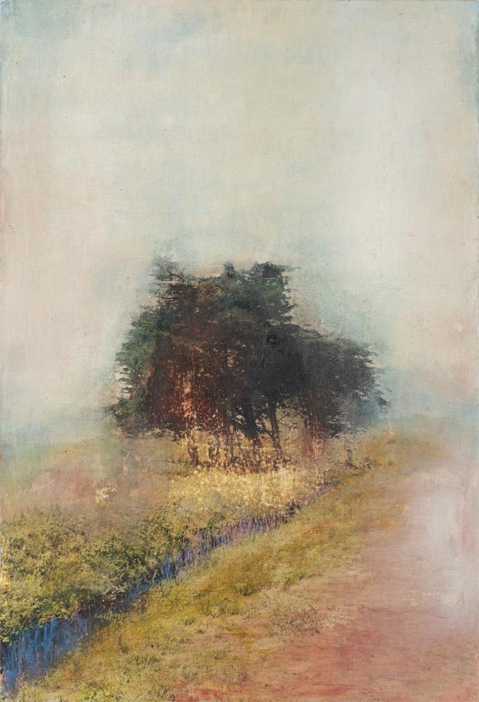 Sillon lumineux - 73 x 50 cm - Technique mixte - 2019
