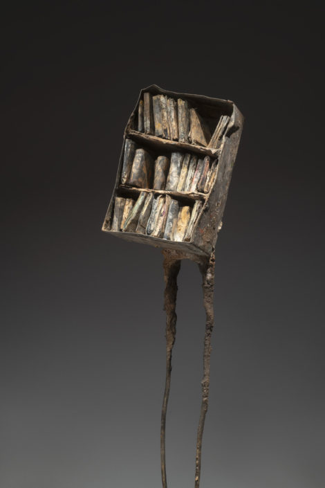 Des livres (Verso) - h 77 cm- Technique mixte - 2018