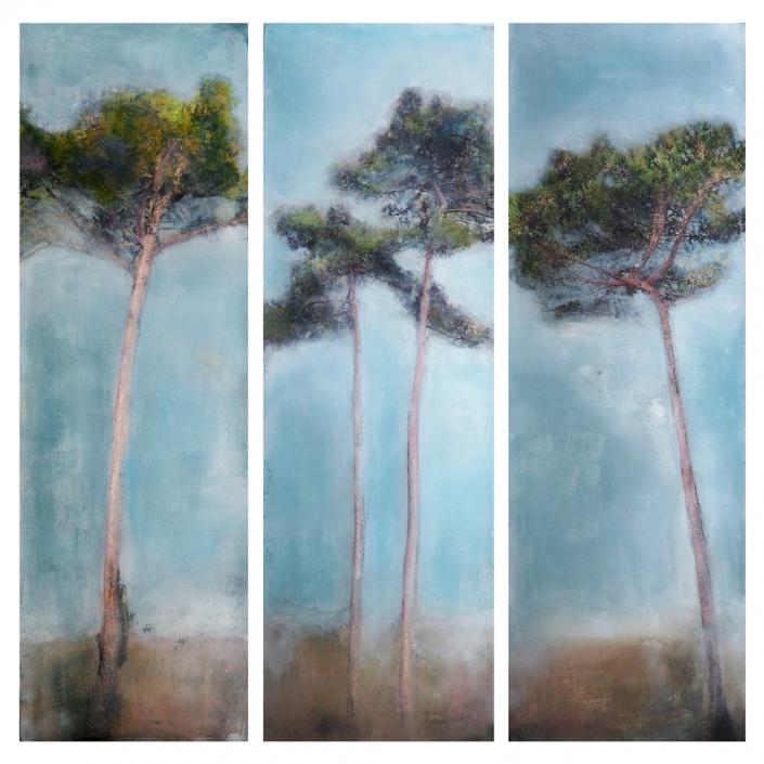 La belle promesse - 150 x 50 cm (X3) - Tirage argentique et pigments marouflé sur toile