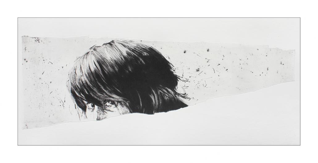 Suzy - Pointe sèche sur zinc / 35.5 x 79 cm - Papier: Hahnemühle 300g - Edition 10