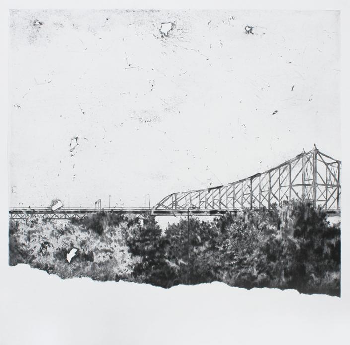 Bridge (2021) - 70 x 70 cm - Ex 1/15 - Pointe sèche