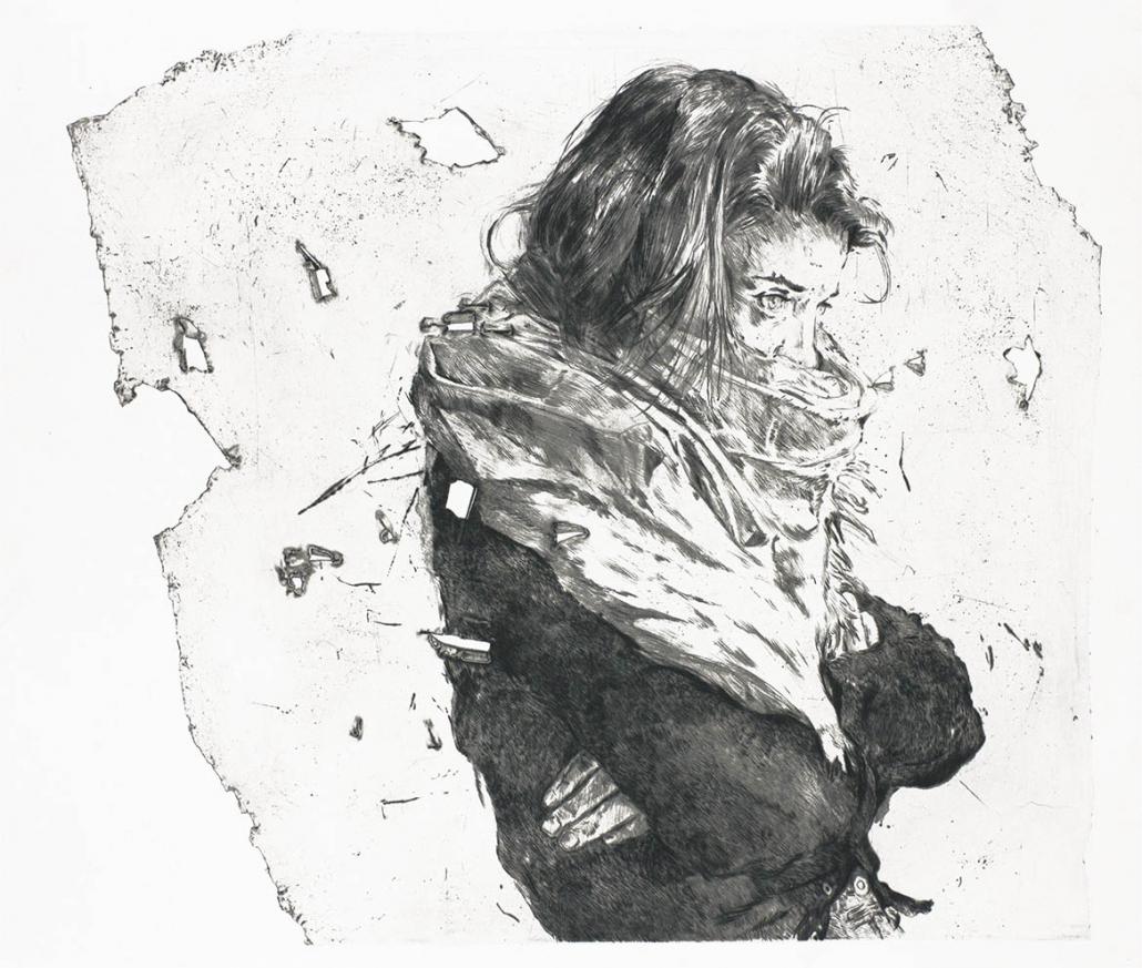 Jeanne S. II (2021) - Édition 15 - 56 x 68 cm - Pointe sèche