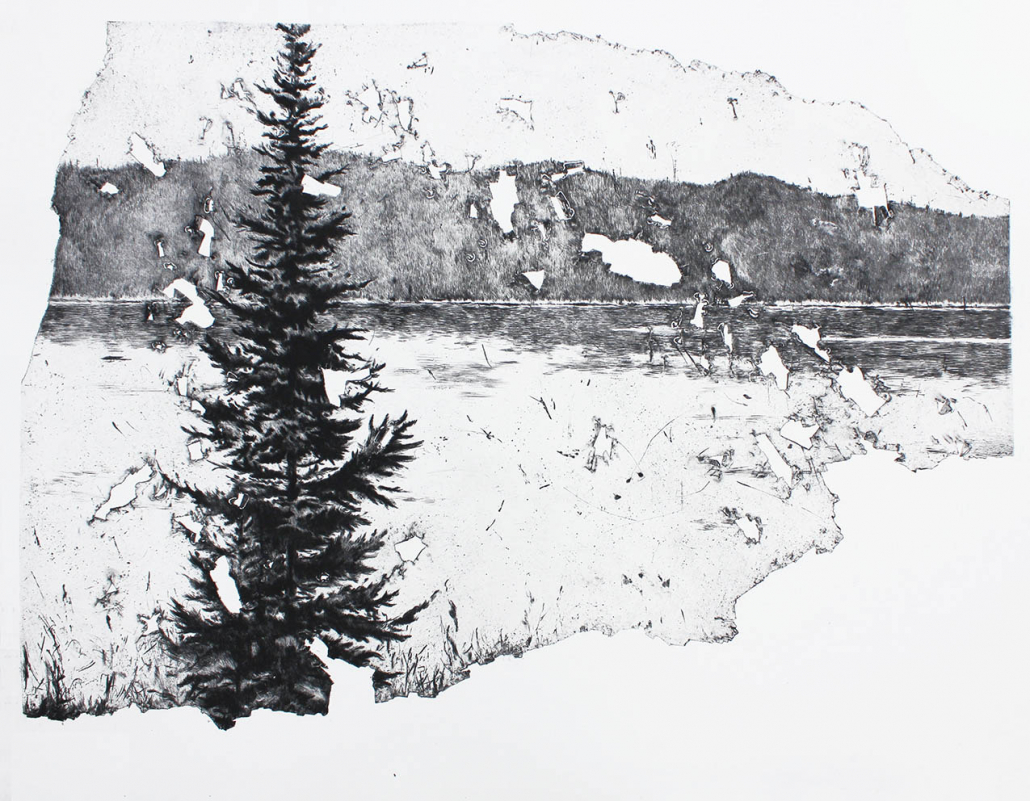 O - 70 x 94 cm - (2021) Édition 15 ex - Pointe sèche