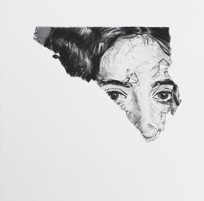 Ramia - 24 x 24 cm - (2021) - Édition 15 Ex - Pointe sèche