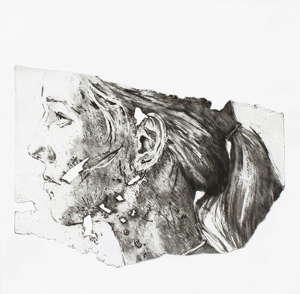 Shirley - 39 x 40 cm - (2021) - Édition 15 Ex - Pointe sèche