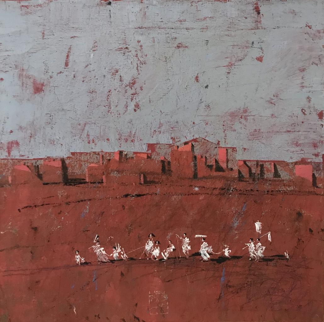 L.HOURS - Les Comédiens - 50 x 50 cm