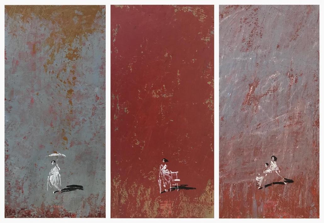 L.HOURS - Triptyque - 40 x 20 cm (x3)