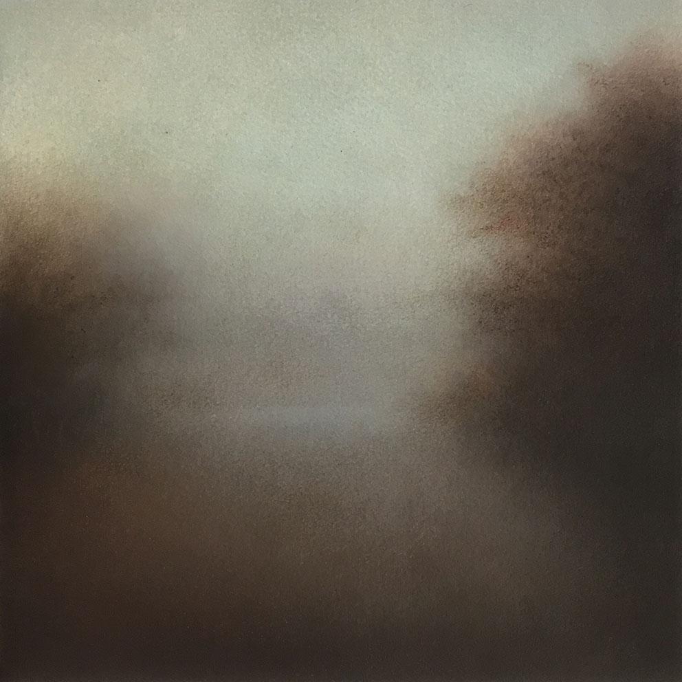 Landscape I - 20 x 20 cm - Huile sur papier marouflé sur bois
