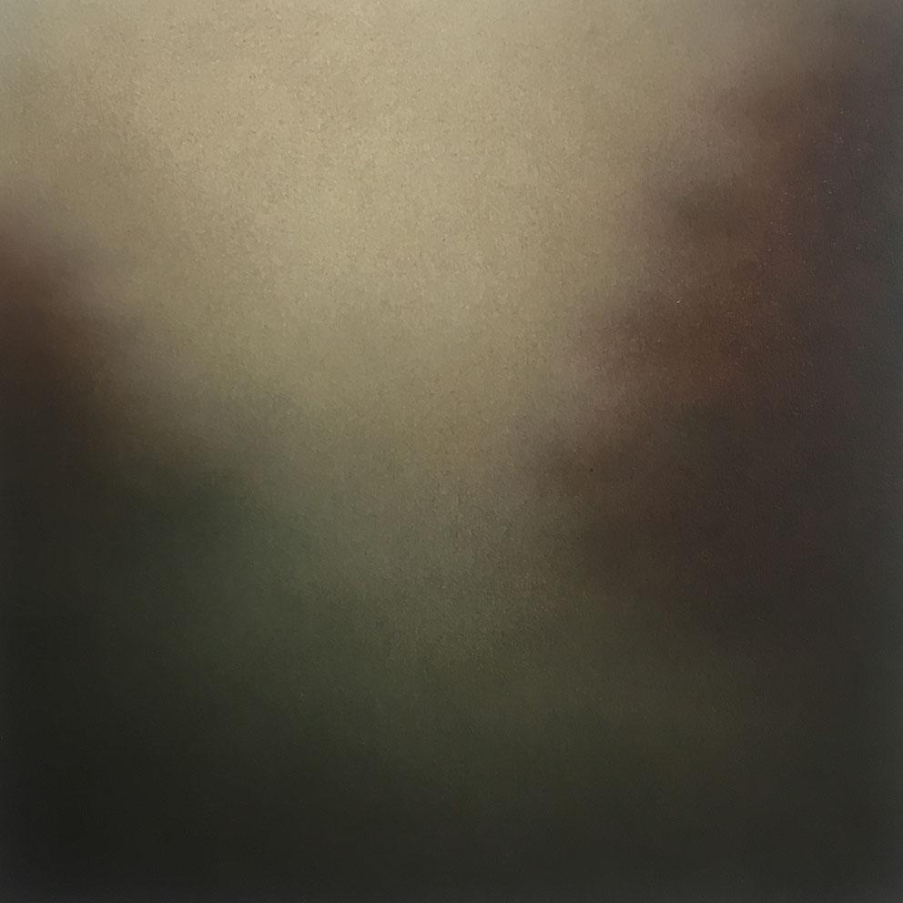 Landscape II - 20 x 20 cm - Huile sur papier marouflé sur bois