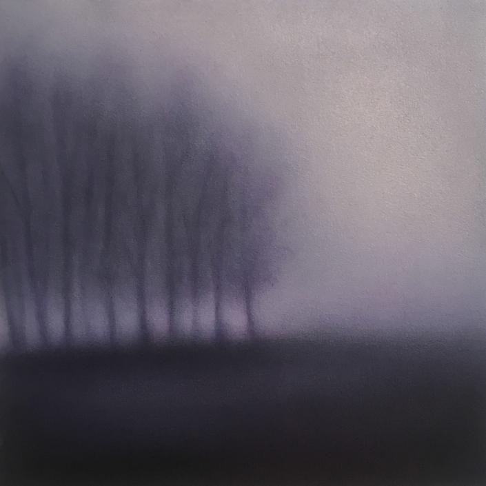 Landscape IV - 30 x 30 cm - Huile sur papier marouflé sur bois