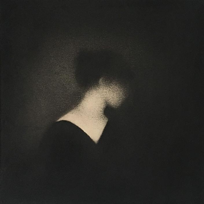 Profil - 20 x 20 cm - Fusain sur papier