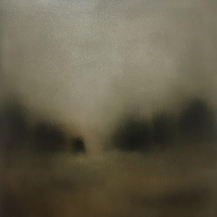 Silence 2 - 50 x 50 cm - Huile sur bois