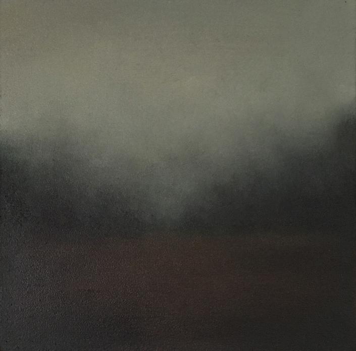 Silence 3 - 20 x 20 cm - Huile sur bois