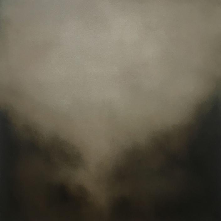 Silence - 50 x 50 cm - Huile sur bois