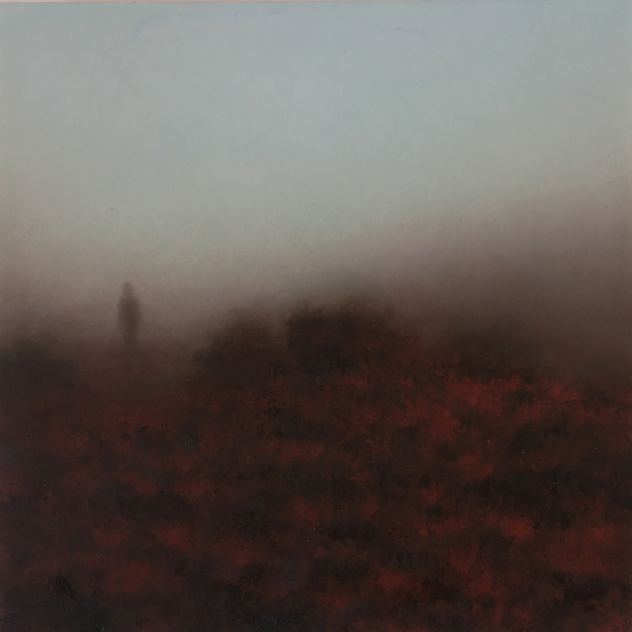 Landscape VI - 30 x 30 cm - Huile sur papier marouflé sur toile