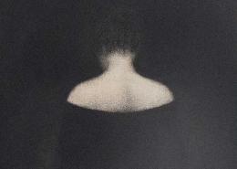 Marina Ho - Figure III - 20 x 30 cm - Fusain sur papier marouflé sur bois - 2019