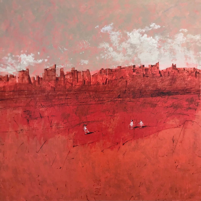 Jaipur - 100 x 100 cm - Acrylique sur toile