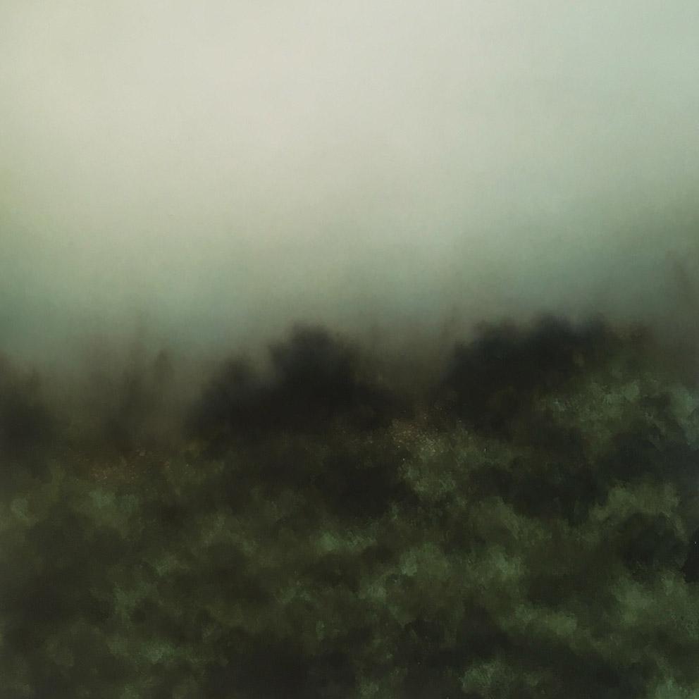 Landscape VII - 30 x 30 cm - Huile sur papier marouflé sur toile
