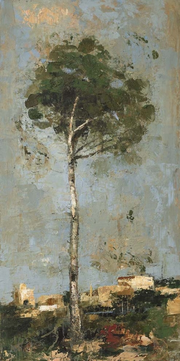 Goxwa - Tree - 60 x 120 cm - Huile et cire sur toile