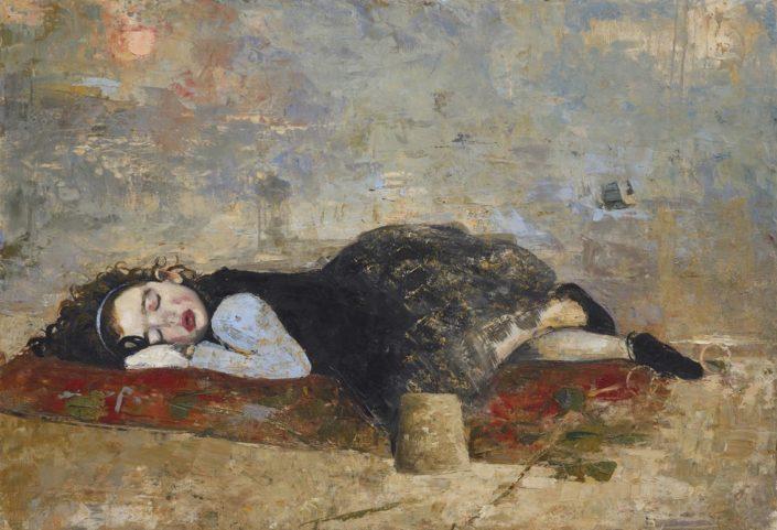 Milly's dream - 89 x 130 cm Huile et cire sur toile - 2018