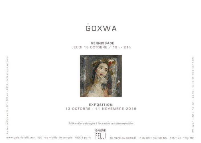 Exposition du 13 octobre au 11 novembre 2016