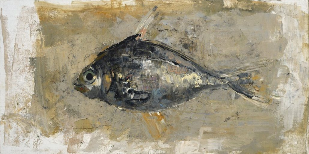 Fish - 2016 - 40 x 80 cm - Huile et cire sur toile (Oil and wax and canvas)